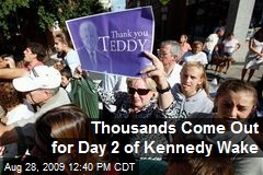 Thousands Come Out for Day 2 of Kennedy Wake