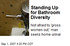 Standing Up for Bathroom Diversity