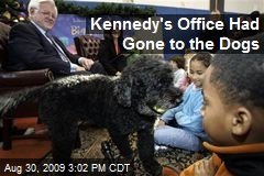 Kennedy's Office Had Gone to the Dogs