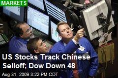 US Stocks Track Chinese Selloff; Dow Down 48