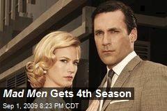 Mad Men Gets 4th Season