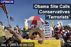 Obama Site Calls Conservatives 'Terrorists'