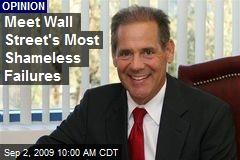 Meet Wall Street's Most Shameless Failures