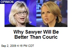 Why Sawyer Will Be Better Than Couric