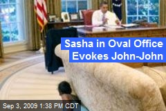 Sasha in Oval Office Evokes John-John