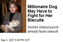 Millionaire Dog May Have to Fight for Her Biscuits