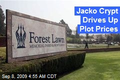 Jacko Crypt Drives Up Plot Prices