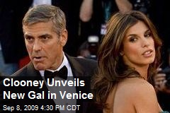 Clooney Unveils New Gal in Venice