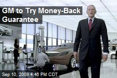 GM to Try Money-Back Guarantee