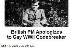 British PM Apologizes to Gay WWII Codebreaker