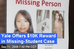 Yale Offers $10K Reward in Missing-Student Case