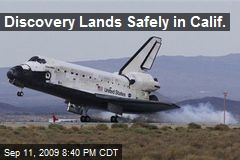 Discovery Lands Safely in Calif.