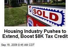 Housing Industry Pushes to Extend, Boost $8K Tax Credit