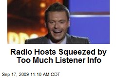Radio Hosts Squeezed by Too Much Listener Info