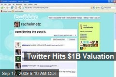 Twitter Hits $1B Valuation