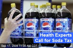 Health Experts Call for Soda Tax