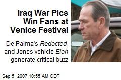 Iraq War Pics Win Fans at Venice Festival