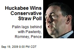 Huckabee Wins Conservative Straw Poll