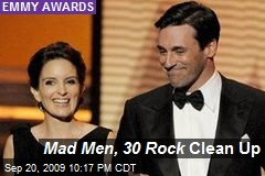 Mad Men, 30 Rock Clean Up