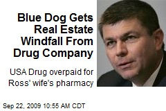 Blue Dog Gets Real Estate Windfall From Drug Company