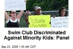 Swim Club Discriminated Against Minority Kids: Panel