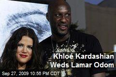 Khloé Kardashian Weds Lamar Odom
