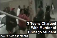 3 Teens Charged With Murder of Chicago Student