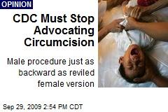 CDC Must Stop Advocating Circumcision