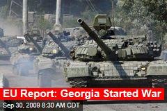 EU Report: Georgia Started War
