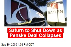 Saturn to Shut Down as Penske Deal Collapses