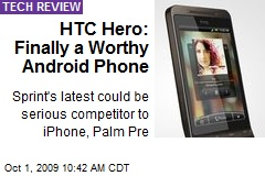 HTC Hero: Finally a Worthy Android Phone