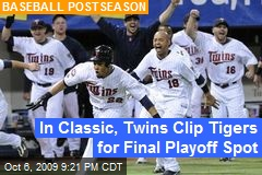 In Classic, Twins Clip Tigers for Final Playoff Spot
