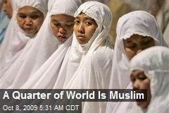A Quarter of World Is Muslim