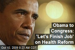 Obama to Congress: 'Let's Finish Job' on Health Reform