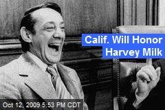 Calif. Will Honor Harvey Milk