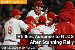 Phillies Advance to NLCS After Stunning Rally