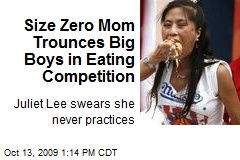 Size Zero Mom Trounces Big Boys in Eating Competition