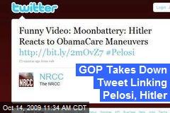 GOP Takes Down Tweet Linking Pelosi, Hitler