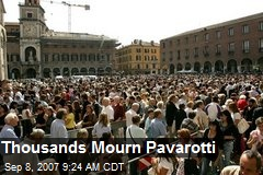 Thousands Mourn Pavarotti