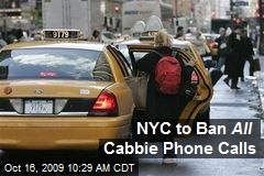 NYC to Ban All Cabbie Phone Calls