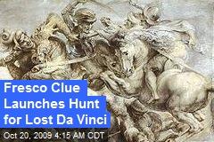 Fresco Clue Launches Hunt for Lost Da Vinci