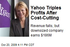 Yahoo Triples Profits After Cost-Cutting