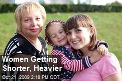 Women Getting Shorter, Heavier