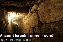 Ancient Israeli Tunnel Found