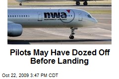 Pilots May Have Dozed Off Before Landing