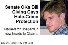 Senate OKs Bill Giving Gays Hate-Crime Protection