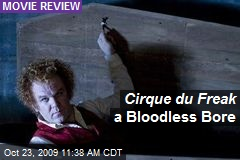 Cirque du Freak a Bloodless Bore