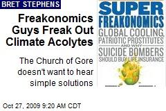 Freakonomics Guys Freak Out Climate Acolytes