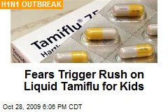 Fears Trigger Rush on Liquid Tamiflu for Kids