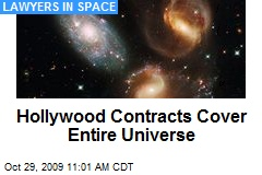 Hollywood Contracts Cover Entire Universe